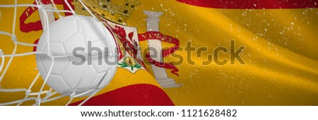 サッカーボール 目標 純 デジタル 生成された スペイン語 ストックフォト © wavebreak_media