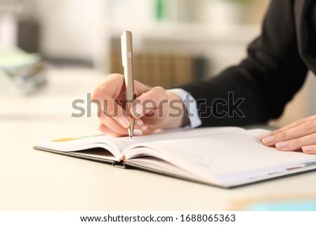 hand · pen · schrijven · glutenvrij · voedsel · achtergrond - stockfoto © andreypopov