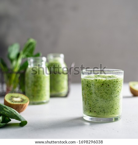Breakfast Detox Green Smoothie Stockfoto © Melnyk