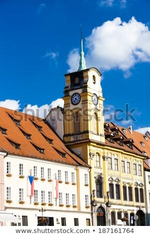 町役場 · 天文学的な · クロック · 歴史的 · チェコ共和国 · セントラル - ストックフォト © borisb17