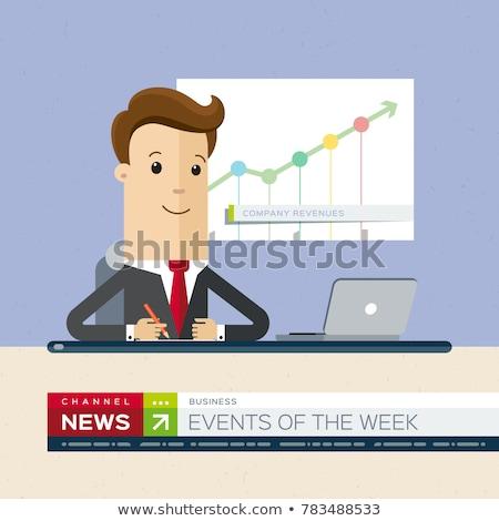 tv · adás · hírek · rendkívüli · hírek · média · televízió - stock fotó © jossdiim