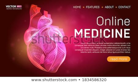 Orvosi izzó szalag szívdobbanás vonal szív Stock fotó © SArts