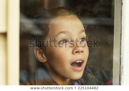 Wonderful news: Excited joyful girl looking surprised. Stock photo © lichtmeister