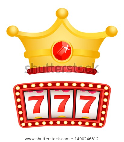 Slot Machine and Royal Crown with Gemstone Vector Stock photo © robuart