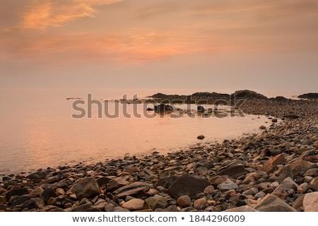 Foto stock: Praia · luz · Maine · cores