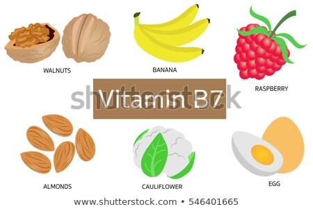 Natural sources of vitamin B7 biotin Stock photo © furmanphoto