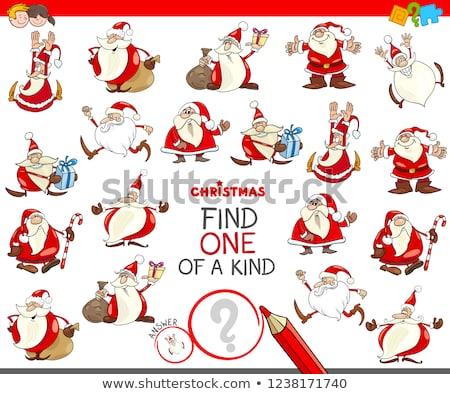one of a kind game with Christmas characters Stock photo © izakowski
