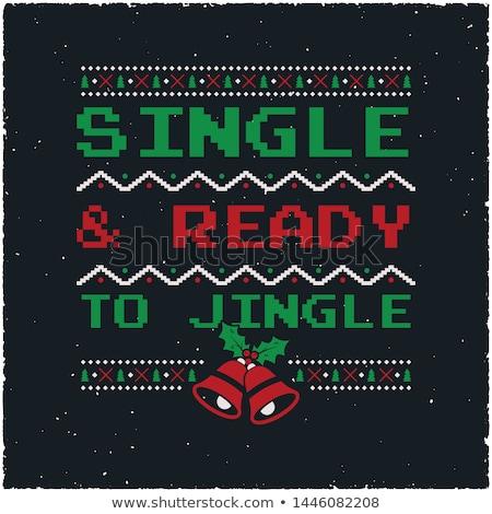 Natale grafica stampa design brutto Foto d'archivio © JeksonGraphics