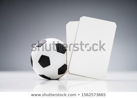Miniatura soccer ball bianco biglietti primo piano basket Foto d'archivio © AndreyPopov