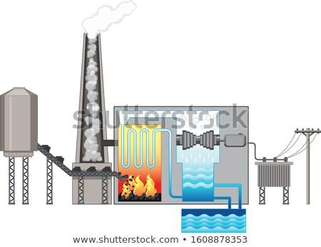 Diagrama energía combustible ilustración fondo Foto stock © bluering