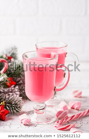 Yakut sıcak çikolata pembe Noel içmek gıda Stok fotoğraf © furmanphoto