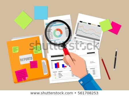 Hand Auditor Magnifying Glass Illustration Stock photo © lenm
