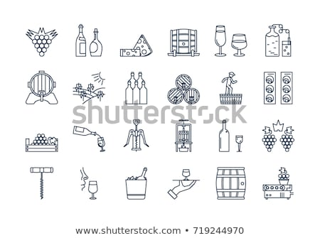 Bottles of wine with bunch of grapes Stock photo © Alex9500