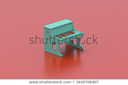 крошечный зеленый фортепиано игрушку 3D Сток-фото © djmilic