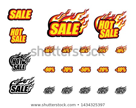 Hot Sale 50 Percent Banner Discount Announcement Stock photo © robuart