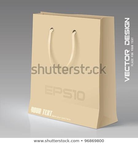 Papel pardo saco 3D ilustração Foto stock © djmilic