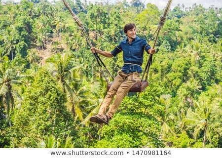 Młody człowiek dżungli Rainforest bali wyspa Indonezja Zdjęcia stock © galitskaya