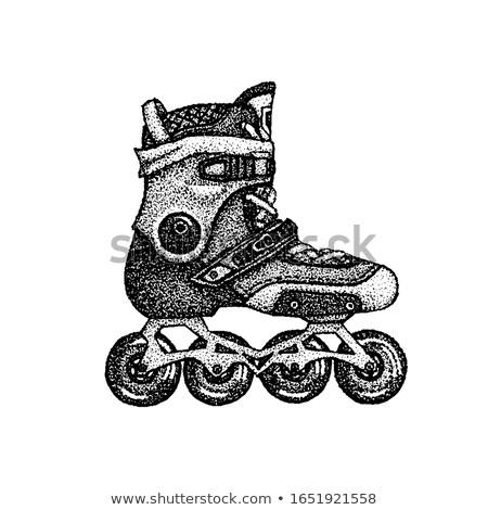 коньки футболки дизайна татуировка рисованной эскиз Сток-фото © Anna_leni