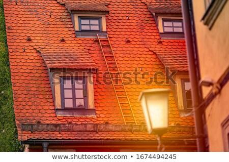 старом доме крыши Ложь Германия Европа закат Сток-фото © kyolshin