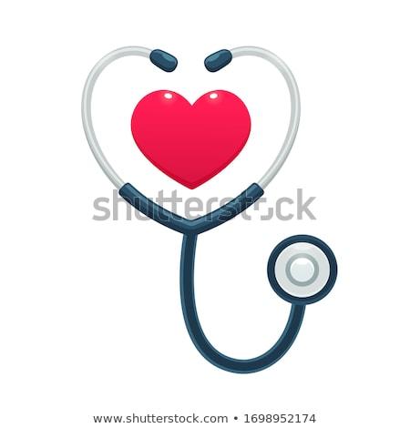 healthcare worker with stethoscope stock photo © vladacanon
