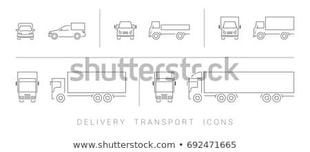 Universal red coches icono vector Foto stock © pikepicture
