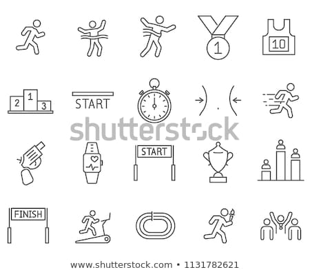 Stopwatch Human Icon Vector Outline Illustration Stock photo © pikepicture
