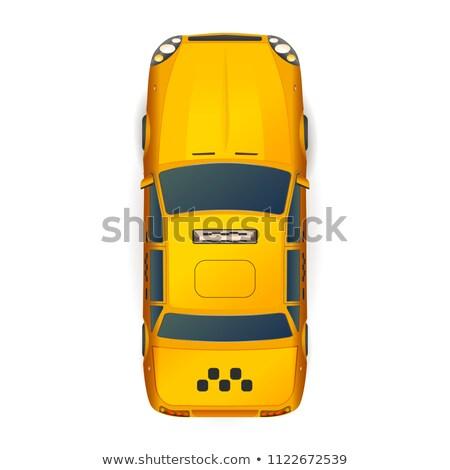 Górę widoku jasne żółty realistyczny taksówką Zdjęcia stock © evgeny89
