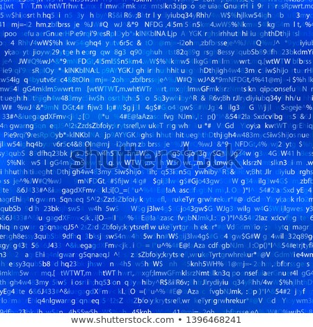 Abstract complicated crypto symbols on white, data encryption binary code concept Stock photo © evgeny89