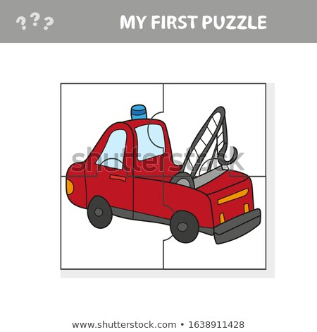 Funny cartoon truck. Educational game for kids - My first puzzle Stock photo © natali_brill