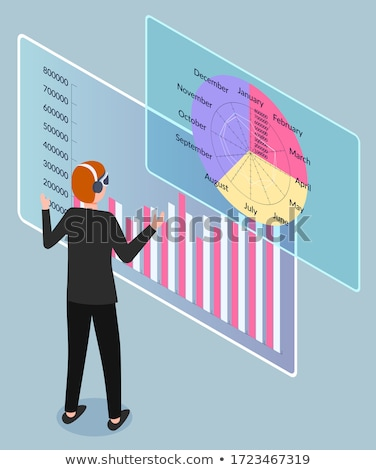 Businessman Explore Analytics Chart, Annual Report Stock photo © robuart