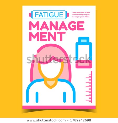 Fatigue Management Creative Promo Poster Vector Stock photo © pikepicture