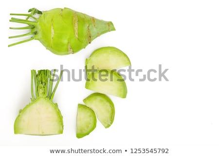 sliced kohlrabi stock photo © lidante