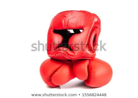 boks · eldivenleri · zemin · spor · salon · el · çocuk - stok fotoğraf © Paha_L
