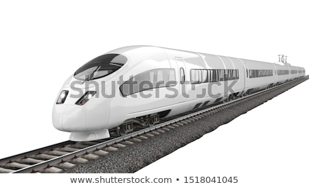 bleu · modernes · vitesse · bullet · train · vecteur - photo stock © hermione