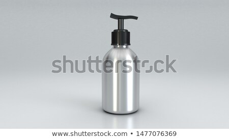 Cream containers isolated stock photo © nurrka