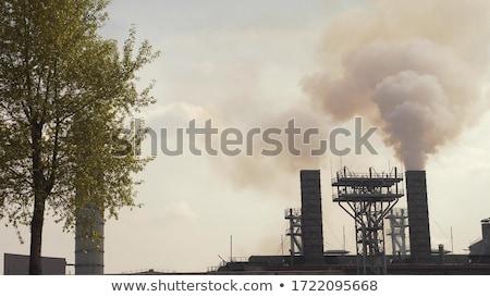 fumar · fábrica · dedicado · aço · céu · nuvens - foto stock © pedrosala