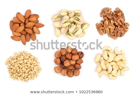 Stock photo: almonds collage