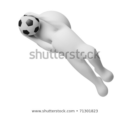 3d small people - goalkeeper a catching ball Stock photo © AnatolyM