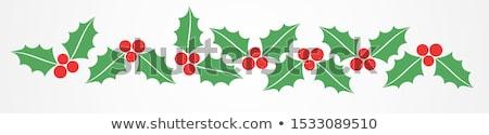 egyszerű · vektor · karácsony · dekoráció · piros · citromsárga - stock fotó © orson