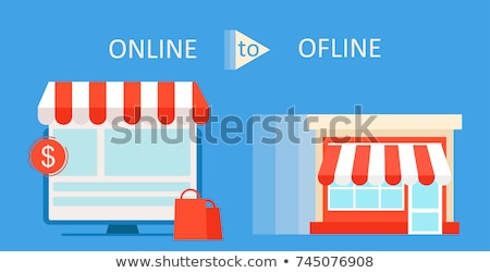 Online vs Brick and Mortar Stores stock photo © iqoncept