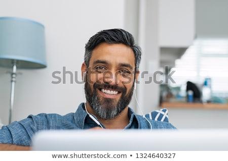 30 lat stary laptop domu pracy relaks Zdjęcia stock © photography33