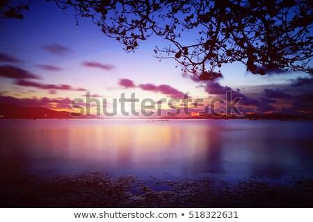 Pescaria pôr do sol tempo longa exposição tiro água Foto stock © moses