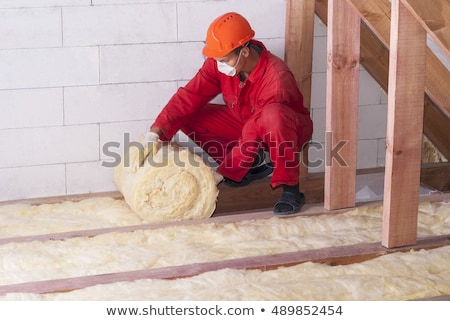 Man installing insulation Stock photo © photography33