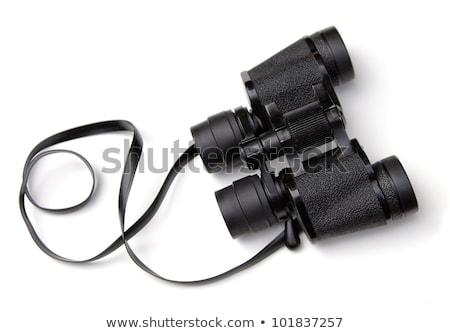 Paar zwarte verrekijker oude geïsoleerd Stockfoto © elly_l