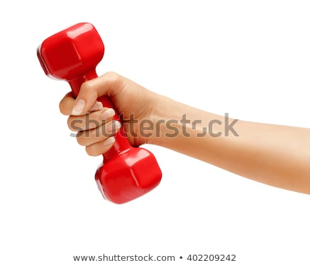 close-up of a hand holding a dumbbell Stock photo © photography33