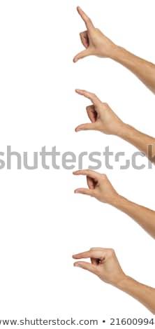 Uomo mani volume buio bianco Foto d'archivio © photography33