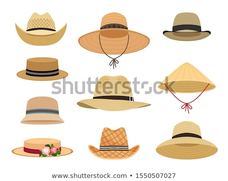 Woman on the beach with straw hat Stock photo © photography33