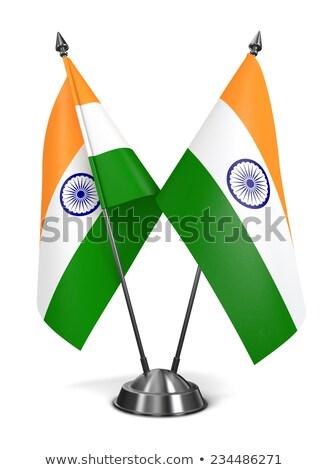 Miniatuur vlag Indië geïsoleerd Stockfoto © bosphorus
