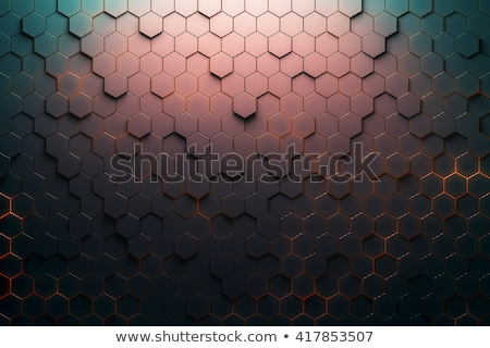 abstract 3d render hexagon backdrop in red colors  Stock photo © Melvin07