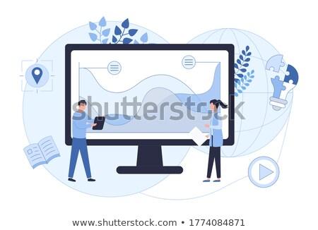 Business woman sale, vector illustration Stock photo © carodi